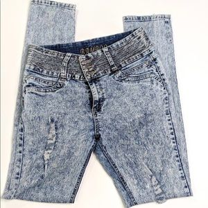 BAMBOO Acid Wash Distressed Jeans